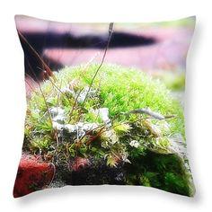 Moss Throw Pillow for Sale by Mimulux patricia No Pillow Sale, Poplin Fabric, Pillow Design, Fine Art America, Throw Pillows, Prints, Image, Toss Pillows, Decorative Pillows