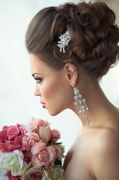 21 Stunning Summer Wedding Hairstyles ❤ See more… Beach Wedding Hair, Hair Comb Wedding, Headpiece Wedding, Wedding Hair Pieces, Wedding Bride, Wedding Ideas, Summer Wedding Hairstyles, Bride Hairstyles, Bridal Updo