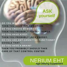 Nerium EHT!! Change the way your mind ages...http://lindsaykasey.nerium.com/ With optimal health often comes clarity of thought. Click now to visit my blog for your free fitness solutions!