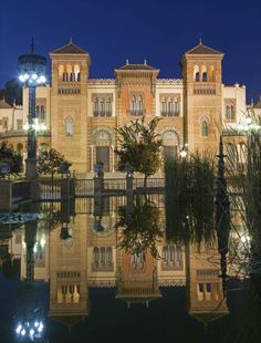 Museo de Artes y Costumbres Populares (Museum of Arts and Traditions of Sevilla, Spain). It occupies the Mudéjar Pavilion (Pabellón Mudéjar) designed by Aníbal González and built in 1914 and served as an art pavilion for the Ibero-American Exposition of 1929.