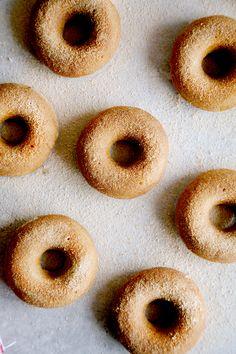 Mini Pumpkin & Cinnamon Sugar Donuts (Vegan) via @wallfloweraimee
