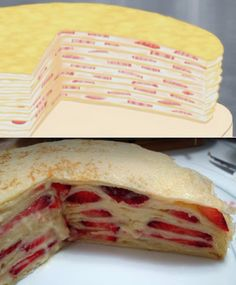 Anime Food Re-creation: Yumeiro Patissiere's Strawberry Mille Crepe