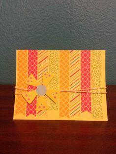Summer bday card. #pickyourplum #washitape  #twine