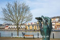 Sculpture called Hand of a River God by Vincent Woropay, Baltic Wharf, Bristol Harbour. Available to buy as 20in x 16in mounted print at £30 from http://photography.colinrayner.org.uk.