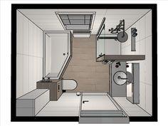 plattegrond kleine badkamer | Pimp Apartment | Pinterest