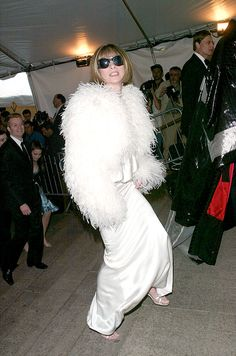 Anna at the Met Gala, 2003.