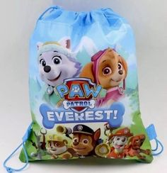 f1e1ba137ce 12pcs Paw Patrol Light Blue Drawstring Backpack Birthday Party Favors Goody  Bags  Unbranded  BirthdayChild