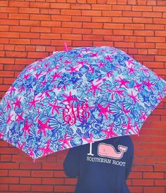 Lilly Pulitzer Golf Umbrella- She She Shells