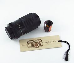 Camera Wooden Bookmark  Hand Pyrography  by bkinspired on Etsy, $7.00