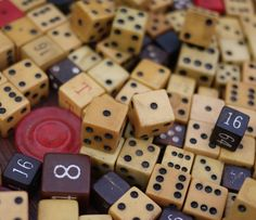 Vintage dice, maybe even some made of bakelite.