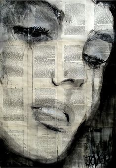 We love how the old newspaper interacts with the #ink to create a beautiful, solemn #art piece!