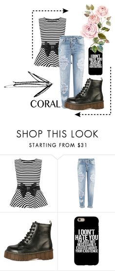 """""""basic look for school"""" by caatjee ❤ liked on Polyvore featuring WearAll and Dsquared2"""
