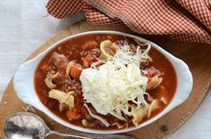 Lasagna Soup - I love the idea of eating Lasagna with a spoon.. ahhahaha.