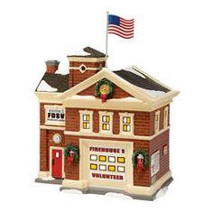 department 56 - snow village - firehouse