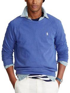 Polo Ralph Lauren   Jersey Long Sleeve Knit Sweatshirts Online, Mens Sweatshirts, Hoodies, Men Spa, Jogging Bottoms, French Terry, Crew Neck Sweatshirt, Polo Ralph Lauren, Casual