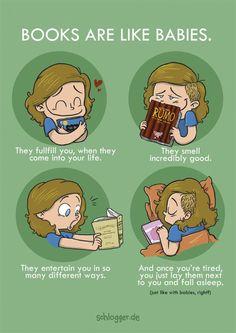 Books are like babies...