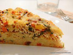 Kleiner Kuriositätenladen: Spaghetti-Gemüse-Torte