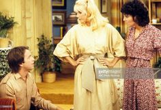 """S COMPANY - """"Larry's Bride"""" - Airdate: October JOHN Get premium, high resolution news photos at Getty Images John Ritter, Suzanne Somers, Abc Photo, Three's Company, October 31, Photo Archive, Refashion, Larry, Favorite Tv Shows"""