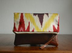The Belinda Pouch /////  Ikat Pouch. Ikat Clutch. by gracedesign, $42.00