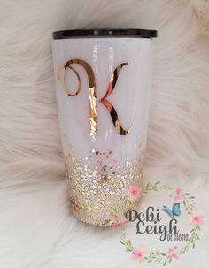 Personalized 20 oz Stainless Steel Tumbler with lid Diy Tumblers, Personalized Tumblers, Custom Tumblers, Glitter Tumblers, Glitter Cups, Gold Glitter, Yellow Glitter, Glitter Face, Glitter Gel