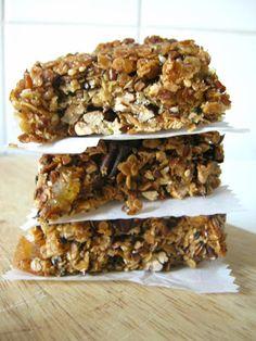 Barres de céréales automnales Fruit Sec, Cereal, Breakfast, Healthy, Kitchen, Food, Granola Cereal, Dessert Recipes, Cooking Food