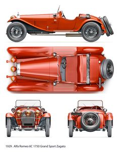 Alfa Romeo 6C 1750 GS Zagato (1929) | SMCars.Net - Car Blueprints Forum