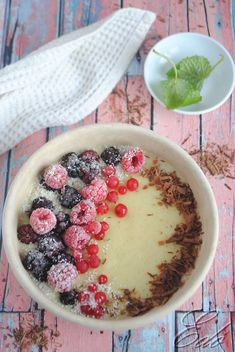 Clean Eating, Healthy Eating, Healthy Food, Chia Puding, Acai Bowl, Cake Recipes, Healthy Lifestyle, Food And Drink, Low Carb