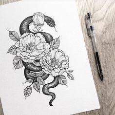 The Tattoo - - diy tattoo images - Minimalist Tattoo Trendy Tattoos, Cute Tattoos, Leg Tattoos, Beautiful Tattoos, Body Art Tattoos, Small Tattoos, Sleeve Tattoos, Tatoos, Tattoo Snake