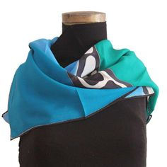 Hand painted crêpe de chine silk scarf Keep Warm, Scarves, Hand Painted, Silk, How To Wear, Accessories, Color, Fashion, Scarf Head