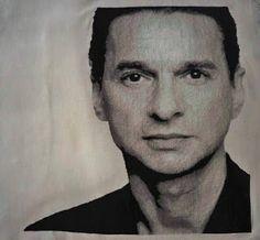 Handmade by Domi: Dave Gahan z Depeche Mode- haft krzyżykowy