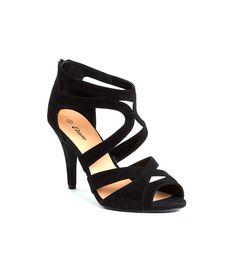 Sandales à talons effet daim - BEAUTY - NOIR - Etam