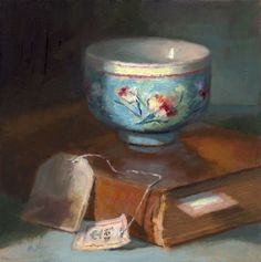 """The Blue Cup"" - Original Fine Art for Sale - © Linda Jacobus Arte Indie, Art Du Monde, Blue Cups, Still Life Oil Painting, Tea Art, Victorian Art, Still Life Art, Fine Art Gallery, Beautiful Paintings"
