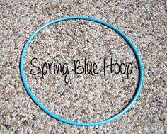 5/8 OD Spring Blue Polypro Hula Hoop//Fantastic by HoopingforLife