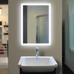 Bathroom mirror ideas diy for a small bathroom bathroom mirror paris mirror rectangle bathroom mirror with led backlights aloadofball Choice Image