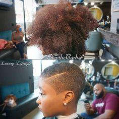 Big Chop via @stepthebarber - Black Hair Information