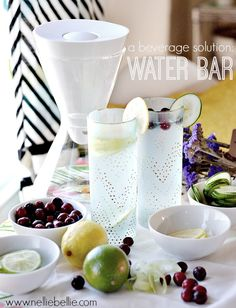 a waterbar is a great beverage idea for the holidays!  @Alaine Sheeley Michelle Water