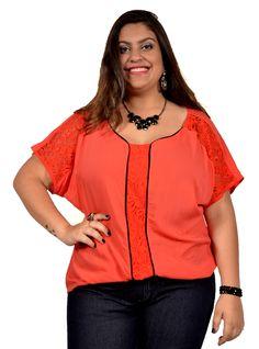 Blusa Renda Plus Size