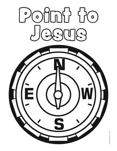 Not the coloring sheet but the idea of a compass. VBS National Park Coloring Sheet-free coloring pages for various VBS themes.