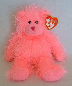 Static Punkies Collection 2003 Ty Beanie Baby Babies Pink Bear Toy Easter Basket   eBay