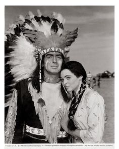 Victor Mature & Suzan Ball for Chief Crazy Horse