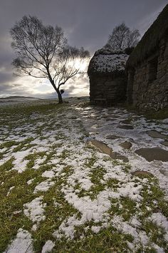 Been there, Lot of History, very Sad Day Leanach Cottage ... Culloden Moor, Scotland