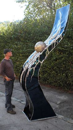 wow ...  Welded Stainless Steel Sculpture