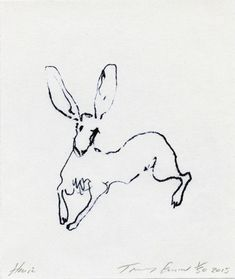 Tracey Emin RA's HARE at the RA Summer Exhibition this drawing is so light and beautiful, yet scratchy-scrawly. The hare's movement is caught. Minimal Tattoo Design, Tracey Emin, Art Thou, Animal Sketches, Artist Art, Female Art, Graphic Illustration, Art Inspo, Line Art