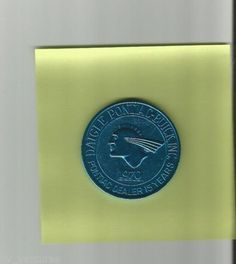 Diagle PONTIAC Dealership Aqua Aluminum DOUBLOON COIN dated 1970 Louisiana Sold $4.00
