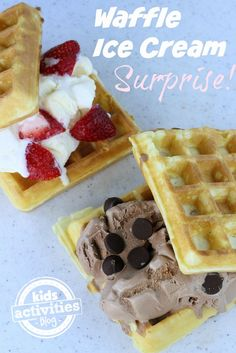 How to make a super fun waffle ice cream surprise - kids will go nuts!