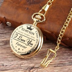 Black/Gold/Silver To My Son Boy Kids Quartz Pocket Watch Pendant Chain Gift US - Modern Pocket Watch - Ideas of Modern Pocket Watch Quartz Pocket Watch, Gold Pocket Watch, Pocket Watch Necklace, Digital Pocket Watch, Modern Pocket Watch, Swiss Pocket Watches, I Love You Forever, Watch Brands, Watches For Men