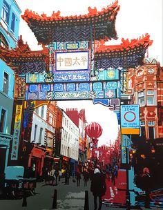 China Town Gate London... check! Exterior Design, Interior And Exterior, Jackson's Art, Pedestrian, Acrylic Nail Designs, Art Fair, Brewery, Times Square, London