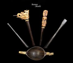 Borneo Tattoo Kit;Needle,Tapper,Ink Stamp Set-Dayak Iban Carved Bone Rainforest Indigenous Traditional Tattoo Body Art Kalimantan,Indonesia by BorneoHunters on Etsy