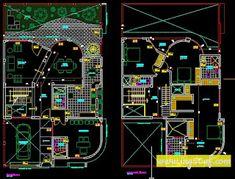 مخطط معماري منزل حديث خطة 2 أوتوكاد dwg