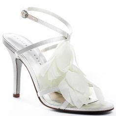 Wedding Shoes #wedding_shoes Heels I Love #heels #wedding #shoes #high_heels #white #love   Corrine Sandal - Ivory, Martinez Valero